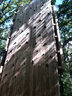 Climbing tower at Camp T